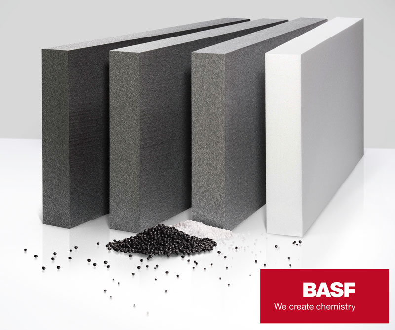 For conventional EPS insulating applications, BASF's range includes the Styropor® F 15 E product types. Optimized cycle times and lower block moulding times are achieved with the Styropor® F 95 E series. Peripor® rounds out BASF's offering for the construction segment